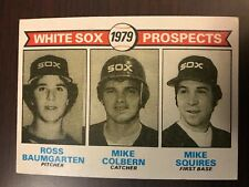 1979 Topps Ross Baumgarten Mike Colbern Mike Squires Chicago White Sox 704