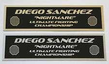Diego Sanchez UFC nameplate for signed mma gloves photo or case