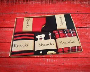 Mysocks 5 Pairs Multi Design Combed Cotton Socks Gift Box