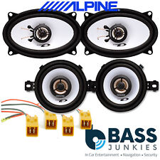 Fiat Punto Cabrio MK1 93-99 ALPINE 660 Watts Front Dash & Rear Car Speakers Kit