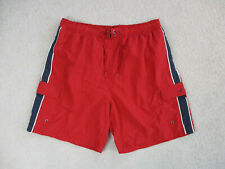Nautica Swim Trunks Adult Extra Large Red Blue Bathing Suit Shorts Men 90s A92