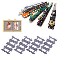 18 x Straight Train Track Railroad Non-Powered Rail Compatible with Kid Toy