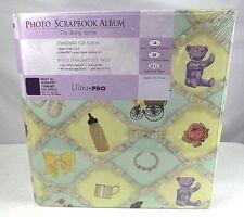 "Baby Photo Scrapbook Album  Kit ""The Baby Series"" 8 1/2"" x 11"" Bears Bottles"