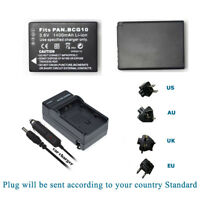 Replacement Battery for Panasonic DMW-BCG10E DMW-BCG10GK DMW-BCG10PP / Charger
