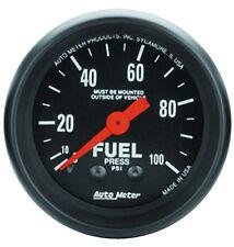 "Auto Meter Z-Series 0-100 Psi Mechanical Fuel Pressure Gauge 2 1/16"" (52mm)"