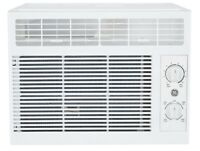 GE 5000 BTU Window Air Conditioner for Small Rooms With Install Kit Compact New