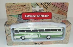 BUS DE BRASIL MERCEDES BENZ 1:72 METAL AUTOBUSES DEL MUNDO COLOMBIA