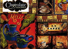 Reproductions of old COFFEE AND CACAO ADVERTISEMENTS  Modern Russian postcard