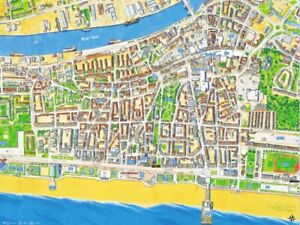 Cityscapes Map Of Great Yarmouth 400 Piece Jigsaw Puzzle 47cm x 32cm (hpy)