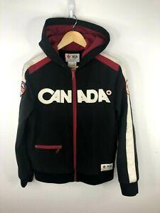 Hudsons Bay Co. Olympic 2010 Canada Full Zip Soft Shell Jacket Mens Small Black