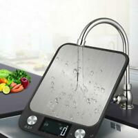 5kg LCD Digital Kitchen Scales Stainless Steel Electronic Cooking Weighing Food