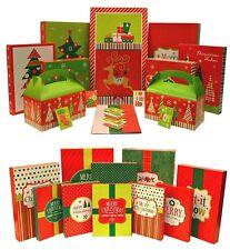 Christmas Gift Box Set & Christmas Holiday Multi Color Festive Shirt Boxes (46)