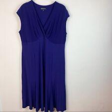 Jones New York Women's Purple Sleeveless Dress Size 22W
