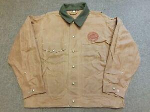 VTG FILSON 620 Oiled Waxed Cotton Tin Cloth Hunting Shooting Jacket Tan Large L