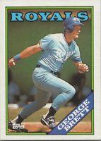 George Brett 1988 Topps Baseball Card #700 Kansas City Royals