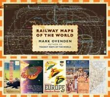 RAILWAY MAPS OF THE WORLD BY MARK OVENDEN-BRAND NEW HARDCOVER-2011