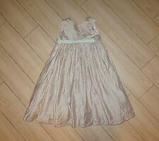 Girls STRASBURG Silk Dress Long Full Length Plaid Print Petticoat Lined Green 4