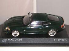 MINICHAMPS 400130502 JAGUAR XK COUPE 2005 CAR LIMITED EDITION GREEN 1:43 NEW