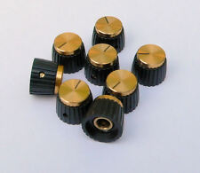 Gold Knobs x8 for Marshall Amplifier, grub screw for round control shaft knob