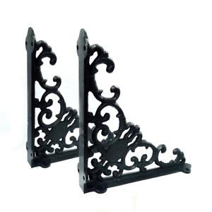 Cast iron garden partition support pair (2)