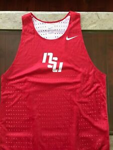 Red Breathable Nike NSU Racerback Tank Top, Large