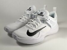 Nike Women's Air Zoom Hyperace White Black Volleyball Shoes 902367-100 Size 8