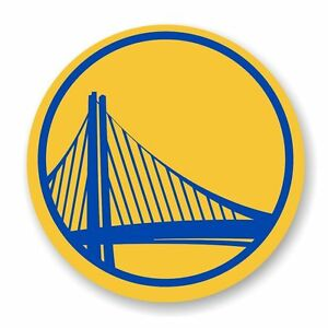 Golden State Warriors Round   Decal / Sticker Die cut