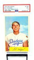 1954 Bowman #138 HOF Dodgers GIL HODGES Vintage Baseball Card PSA 3 VERY GOOD