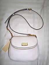 NWT Michael Kors BEDFORD Flap Crossbody Bag Ecru Leather 38H6XBFC2L