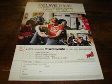 CELINE DION - JJ GOLDMAN - PUBLICITE 1 FILLE & 4 TYPES