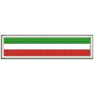 [Patch] BANDIERA ITALIA cm 10 x 2 toppa ricamata ricamo ITALY -192