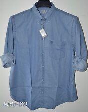 CAMICIA Jeans UOMO Taglie forti TAGLIA 6 XL calibrata OVERSIZE tela leggera