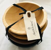 Hearth and Hand with Magnolia Set of 4 Solid Wood Spice Salt Bowls NWT