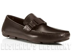 SALVATORE FERRAGAMO Brown 11D Sardegna VARA driving Moccasin shoes NIB Authentic