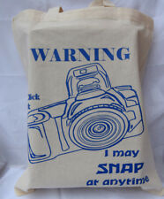 Camera cotton Tote Bag  - ideal birthday gift / fathers day gift