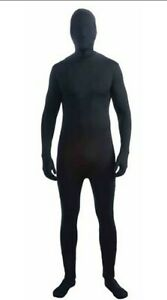 Disappearing Man Black Body Suit Adult Costume Size 42