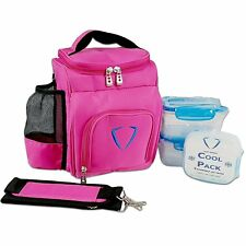 Lunch Bag Ladies Work Portable Insulated Carry Tote Cooler Gym Fitness for Women Pink