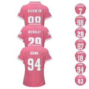 """NFL """"Bubble Gum"""" Pink Fashion Youth Girls Player Jersey Collection Sizes (7-16)"""