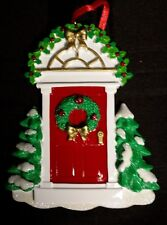 Personalized Red Door Home Christmas Tree Ornament Holiday Gift