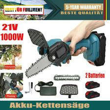 1000W Akku Kettensäge Motorkettensäge Motorsäge Mini Einhandsäge mit 2 Akkus Neu