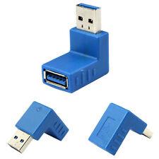 Haut Débit USB 3.0 Type A mâle à A femelle 90 degrésangle droit Adaptateur USB