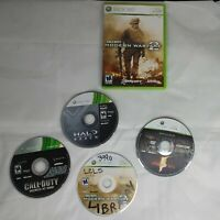 Microsoft XBOX 360 Lot of 4 Games HALO Reach COD waw modern war 2 Resident Evil
