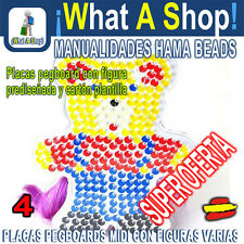 HAMA BEADS MIDI Figuras Prediseñadas PEGBOARD Figures plate Redesign. PVP la UD