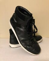 RALPH LAUREN POLO BLACK LEATHER TALBERT HIGH TOP FASHION SNEAKERS MEN'S SIZE 12