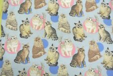 Cats Flannel Fabric 100% Cotton 3 7/8 Yards