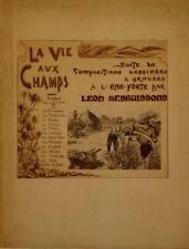 """Recueil d'eaux-fortes par L.DESBUISSONS, """"La vie aux champs"""""""