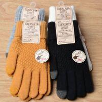 Fashion Magic Screen Sensory Women Gloves Stretch Knit Female Winter Warm Mitten