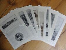 WW1 BATTLE OF THE OUTCQ, MORIN & MARNE 1914 The Great War 11x Original Prints