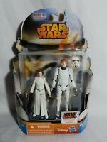 Star Wars New Hope Mission Series Leia & Luke Skywalker Figures Hasbro 2014