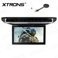 "10"" Car Roof Overhead Monitor Flip Down DVD Player +Screen Mirroring Adapter UK"